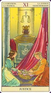 Tarot of the New Vision XI Justice