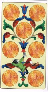 150122 7 of Pentacles Marseilles Cat