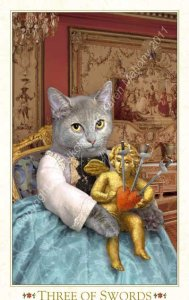 150501 3 of Swords Baroque Bohemian Cats